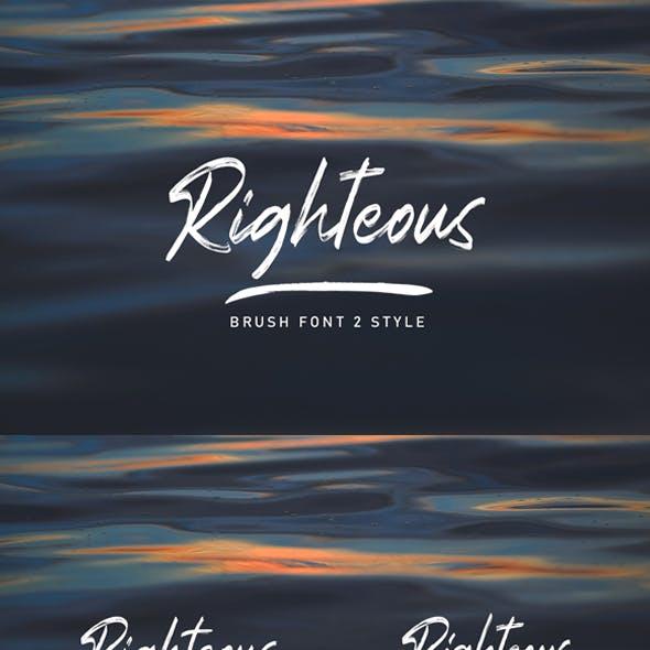 Righteous Handwritten Typeface Brush