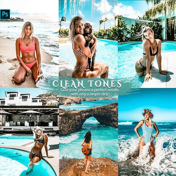 Clean Effects Travel Photoshop Actions