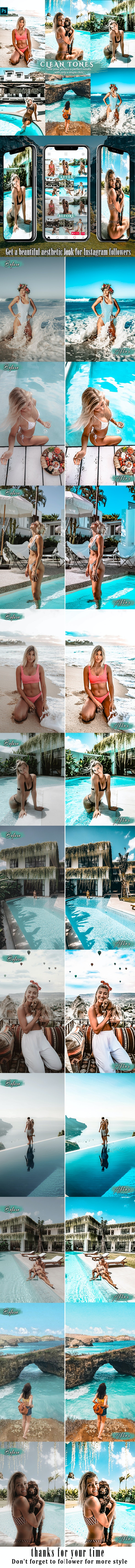 Clean Effects Travel Photoshop Actions - Photo Effects Actions