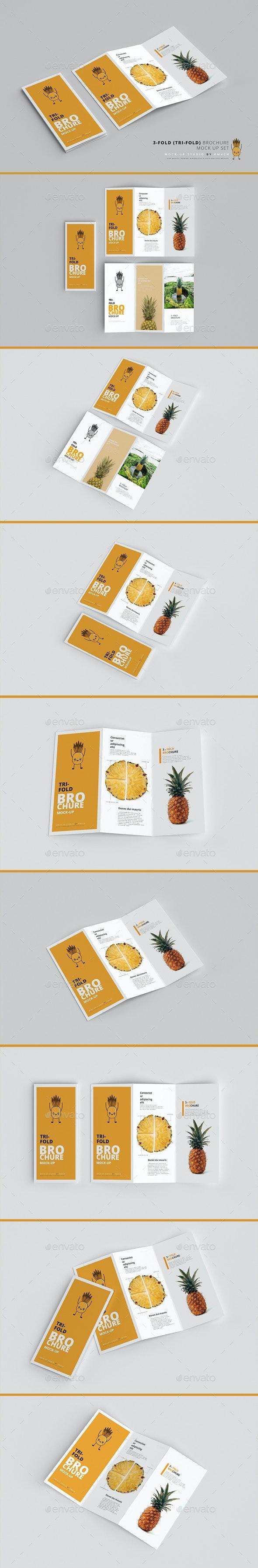 3-Fold (Tri-Fold) Brochure Mockups - Brochures Print