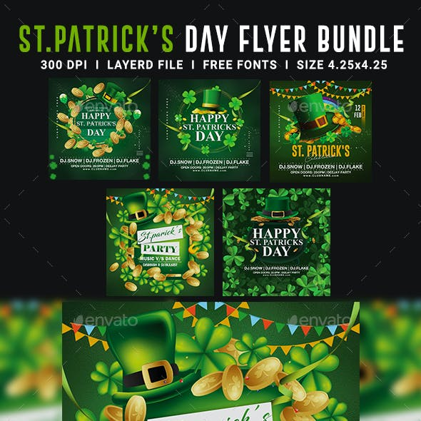 St. Patrick's Day Party Flyer Bundle