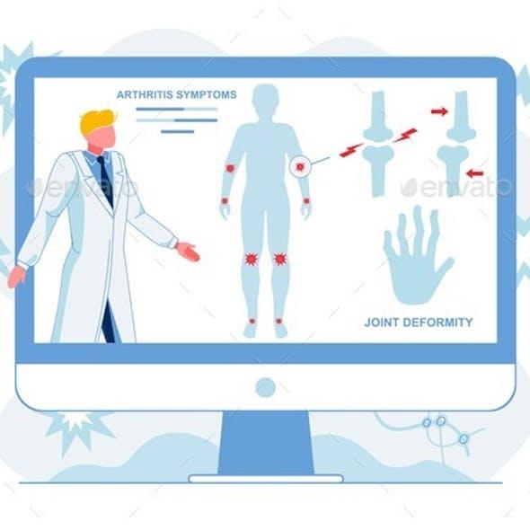 Doctor Analyzing Arthritis Symptoms Illustration