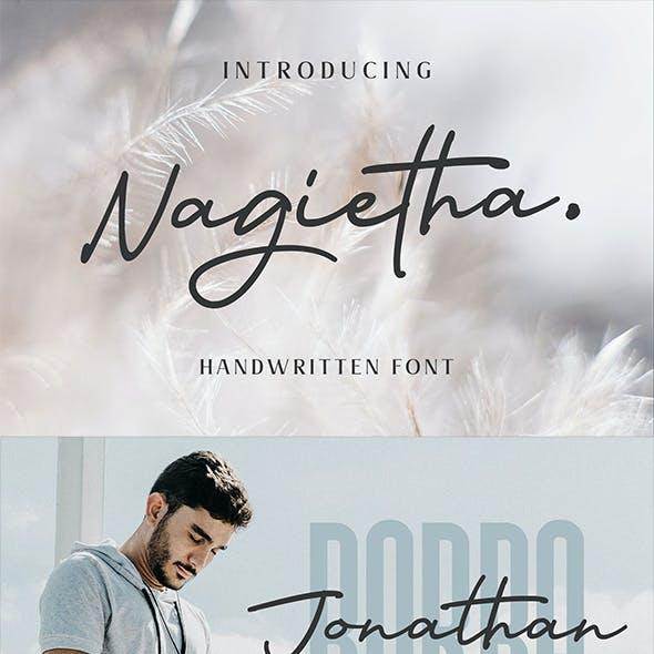 Nagietha - Handwritten Font