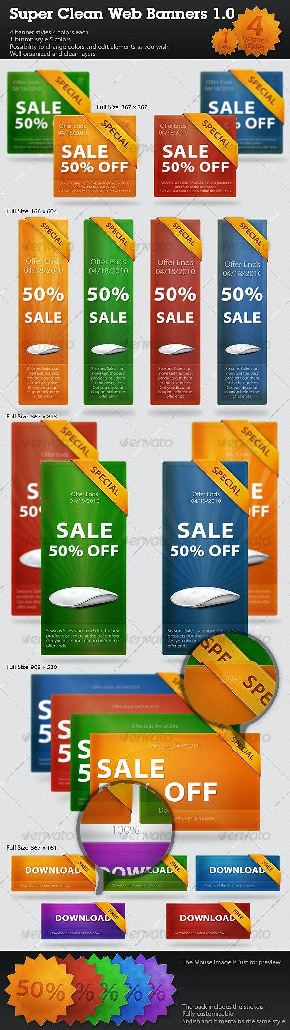 Super Clean Web Banners//Web Boxes 1.0 - Miscellaneous Web Elements
