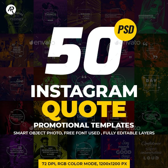 50-Instagram Quote Promotional Templates