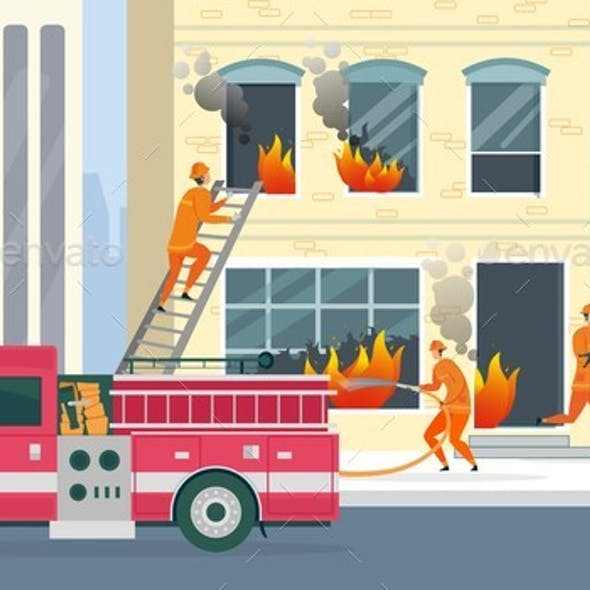 Extinguishing High-rise Building and Saving Life.