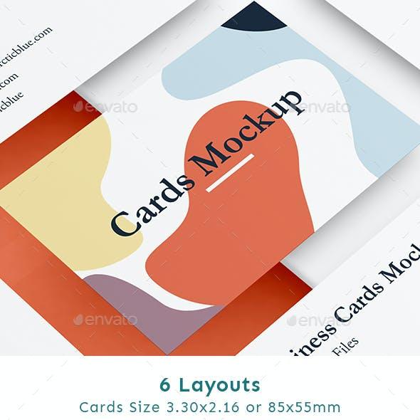 Modern Cards Mockup