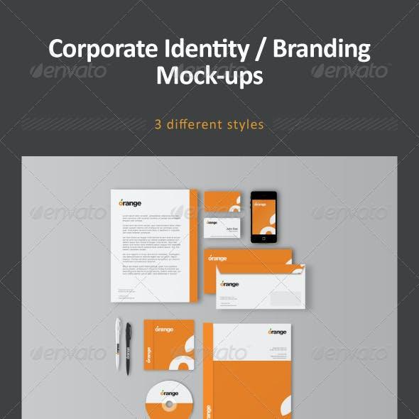 Corporate Identity / Branding Mock-ups