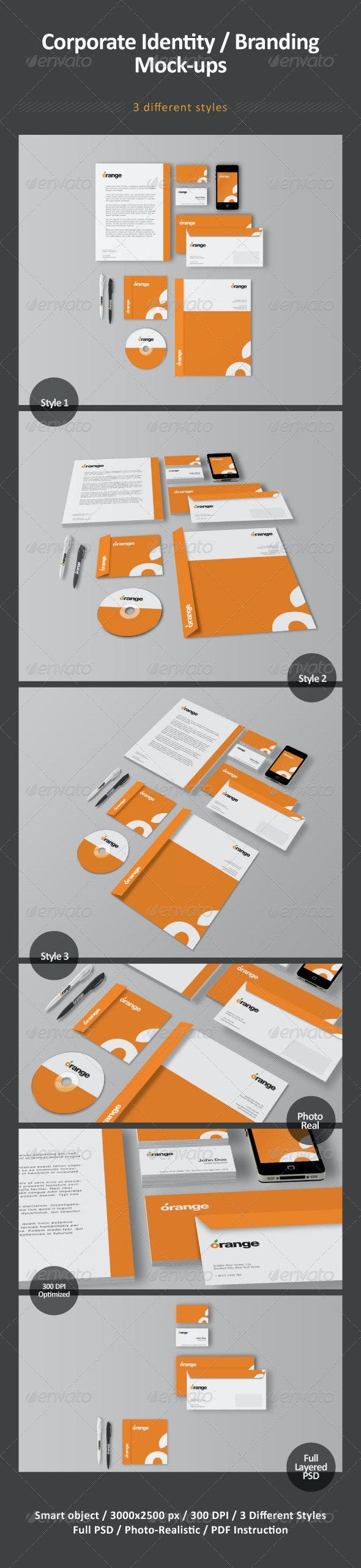 Corporate Identity / Branding Mock-ups - Stationery Print