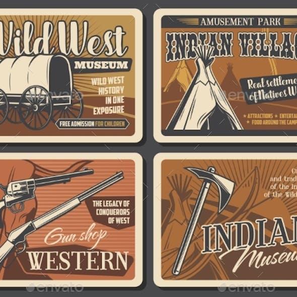 Wild West Western Retro Posters