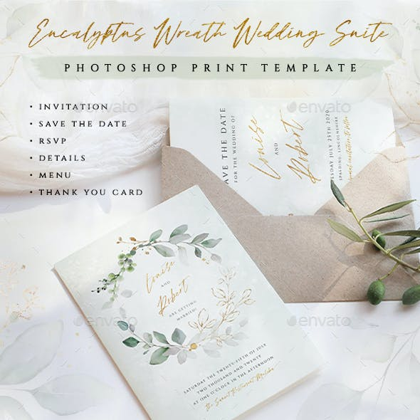 Eucalyptus Wreath Wedding Suite