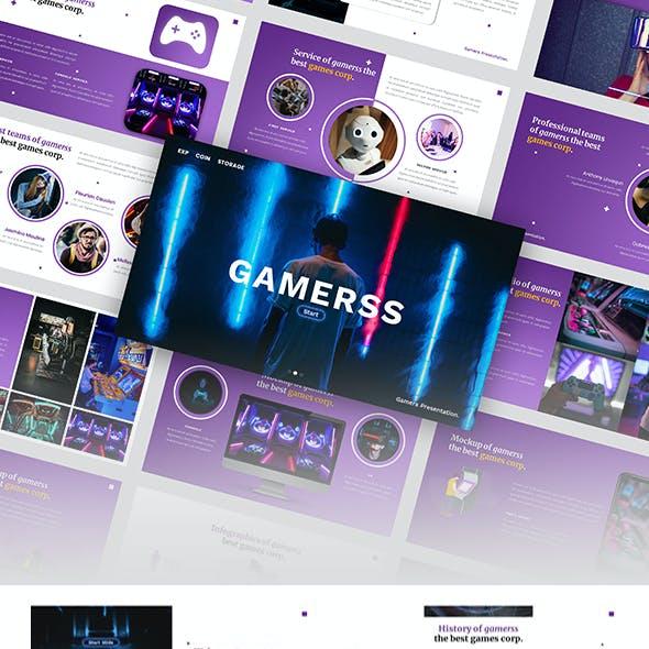 Gamerss - Games Business PowerPoint Template