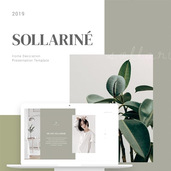 Sollarine Home Decoration Keynote Presentation Template  Fully Animated