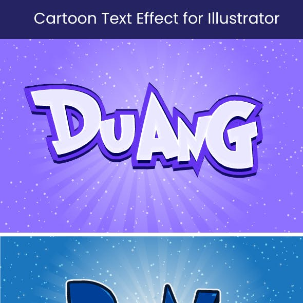 Cartoon Text Effect for Illustrator