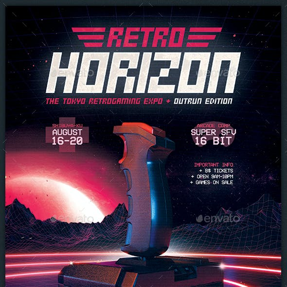 Retro Game Flyer Classic Gaming Template