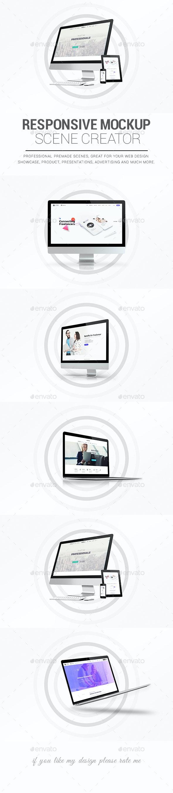 Responsive Mockup Designer - Displays Product Mock-Ups