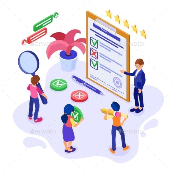 Survey Questionnaire or Test Form - Miscellaneous Vectors