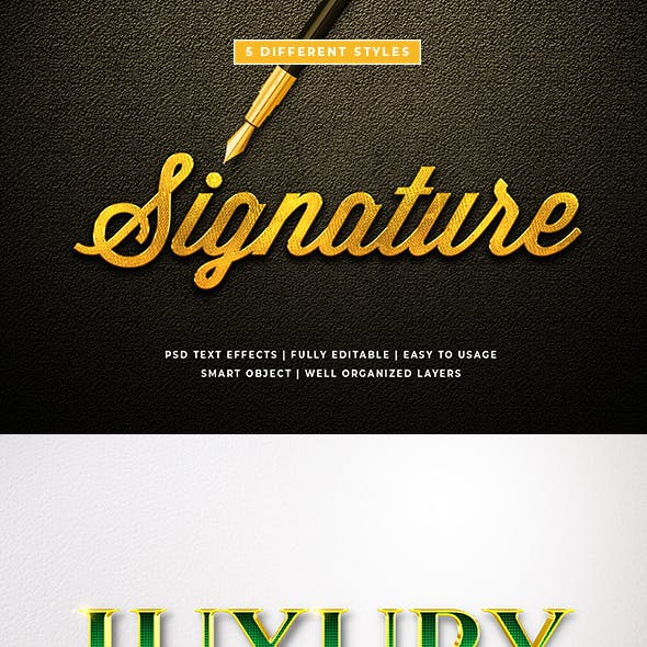 3d Luxury Text Style Effect Mockup