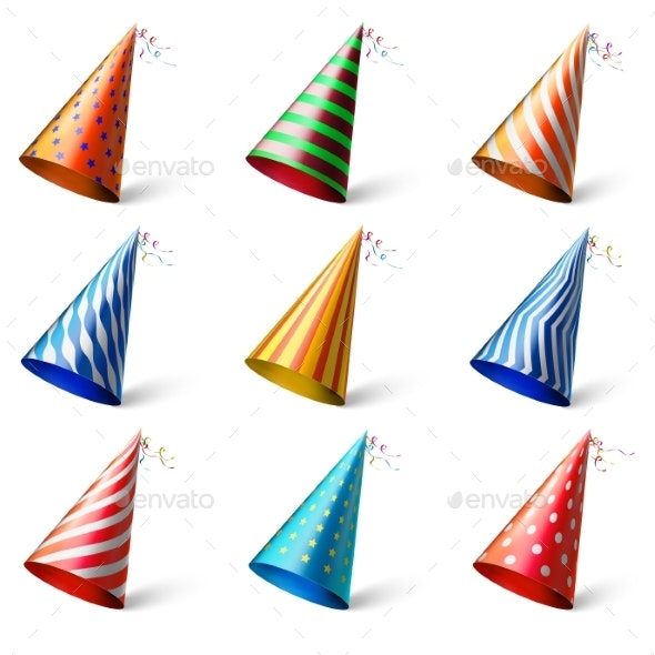 Colorful Party Hats - Birthdays Seasons/Holidays