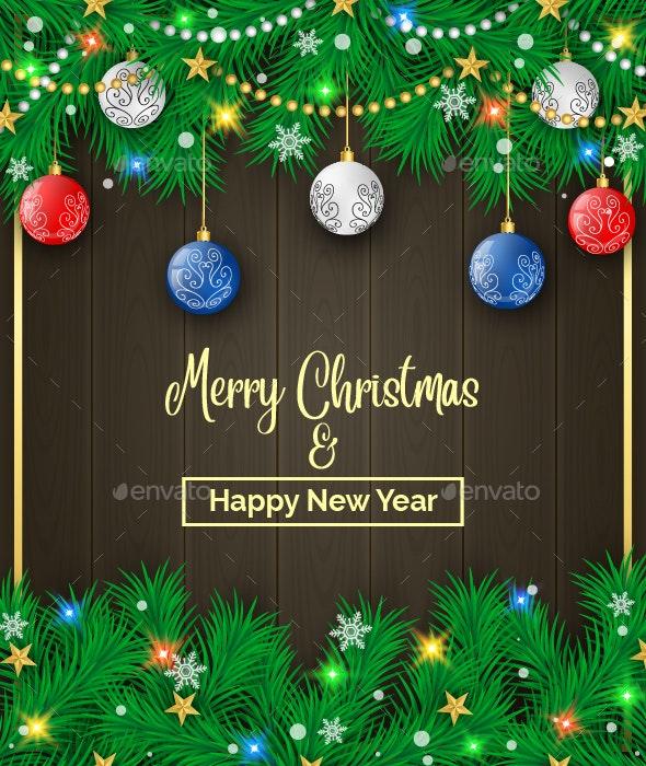Christmas Pine Decoration - Christmas Seasons/Holidays