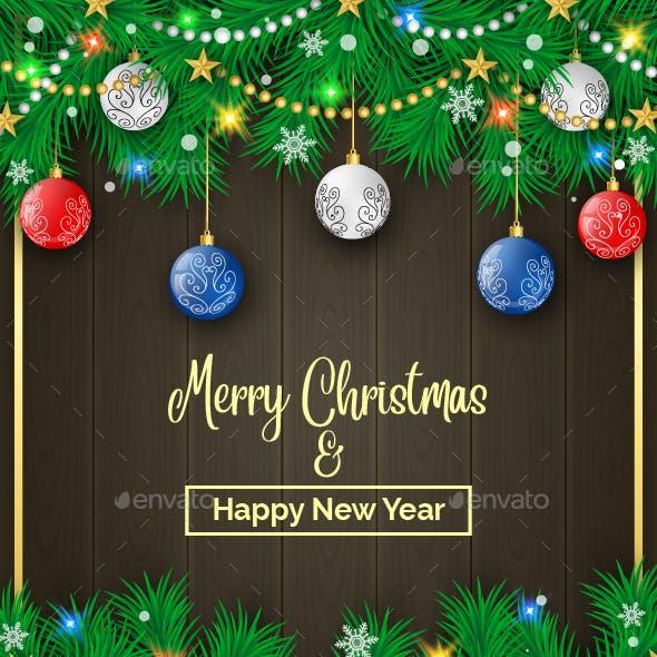 Christmas Pine Decoration