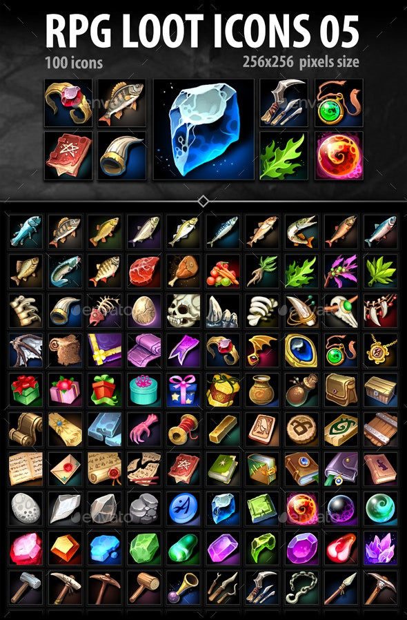 RPG Loot Icons 05 - Miscellaneous Game Assets