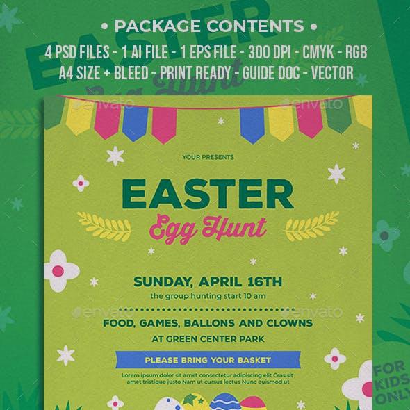 Easter Egg Hunt Simple Flyer