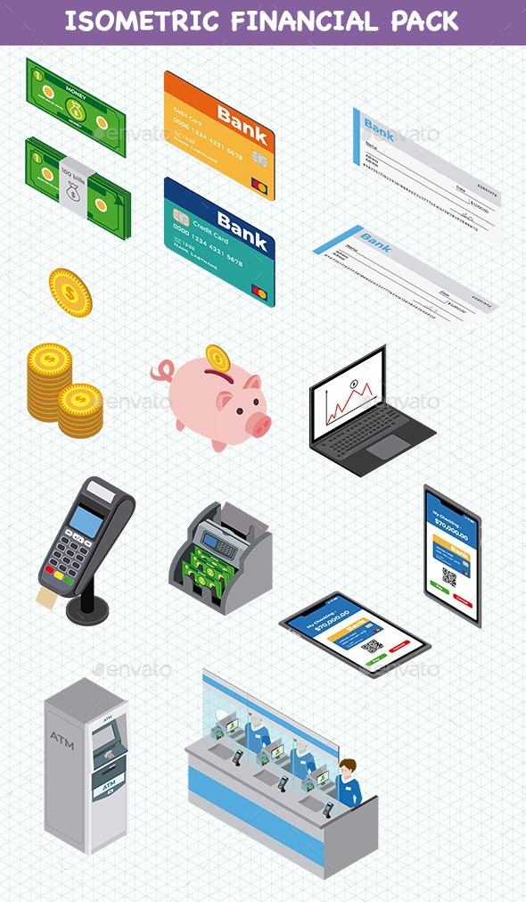 Isometric Financial Pack - Services Commercial / Shopping