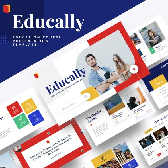 Educally - Education Course Google Slides Template