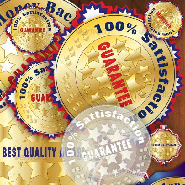 Pack Of Editable Medals, Awards, Badges
