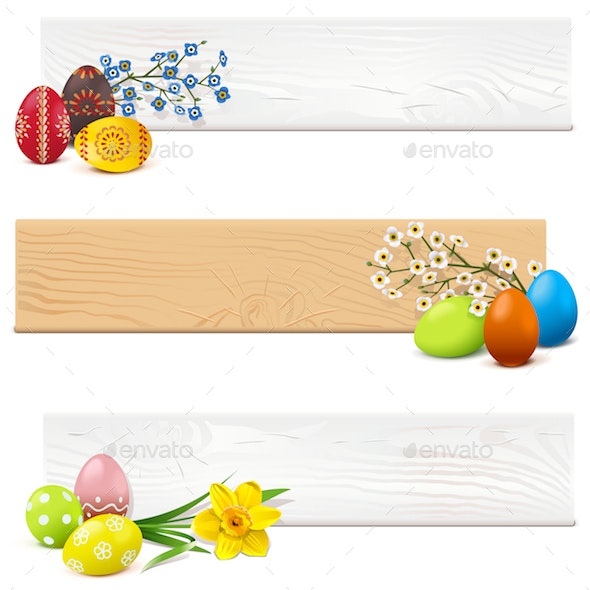 Vector Easter Wooden Planks - Miscellaneous Seasons/Holidays