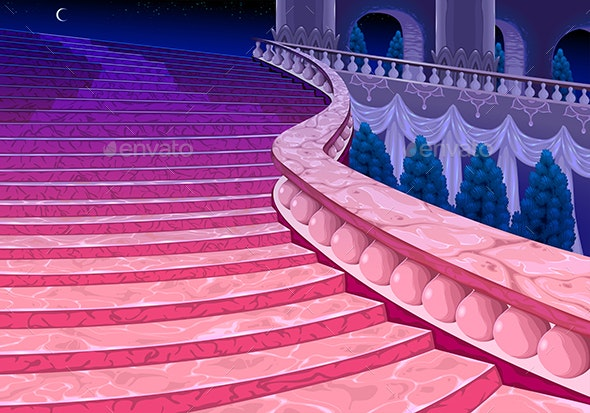 Palace Stairs at Midnight - Buildings Objects