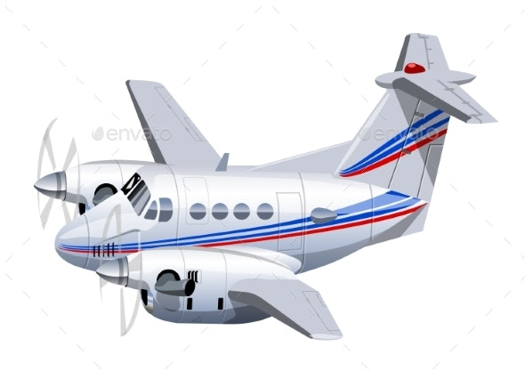 Cartoon Utility Aircraft - Man-made Objects Objects