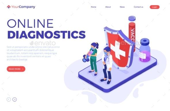 Online Diagnostics - Health/Medicine Conceptual