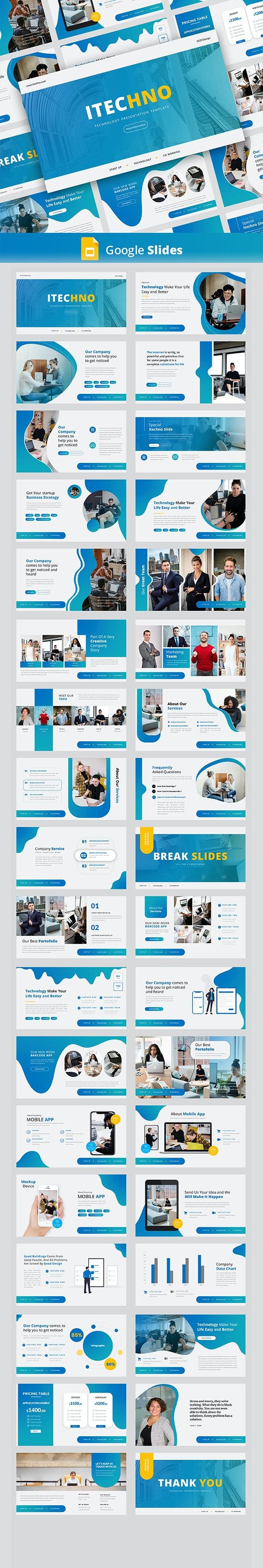 Itechno – Creative Business Google Slides Template - Google Slides Presentation Templates