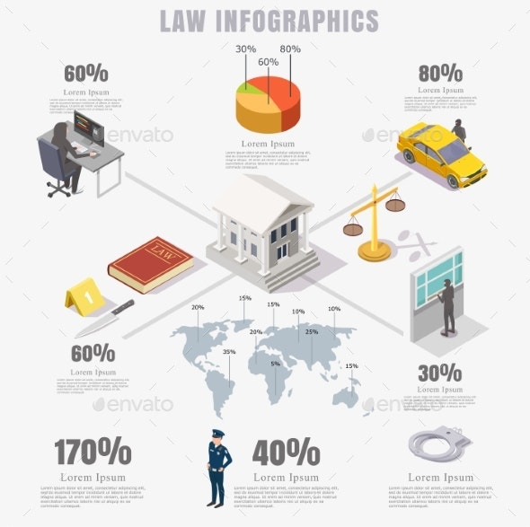 Law Justice Infographics - Miscellaneous Vectors