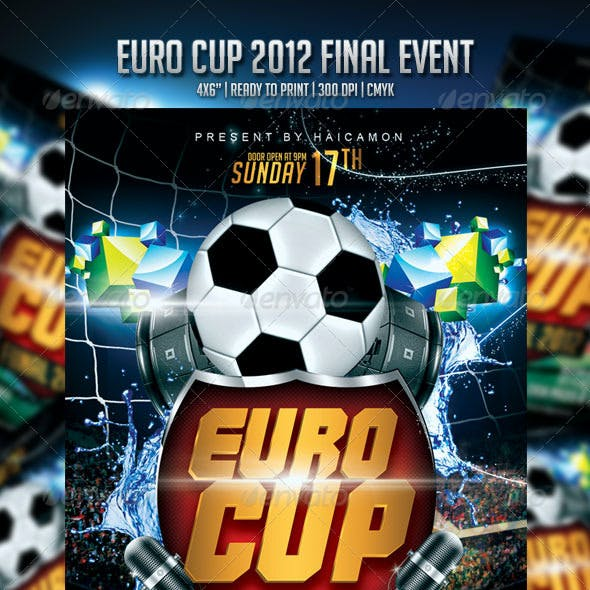 Euro Cup Final 2012 Event Flyer