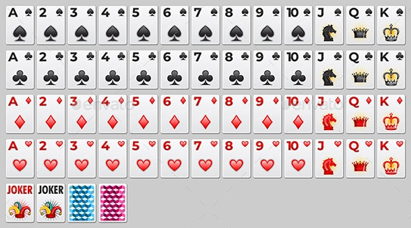 Vector Playing Cards Set - Miscellaneous Game Assets