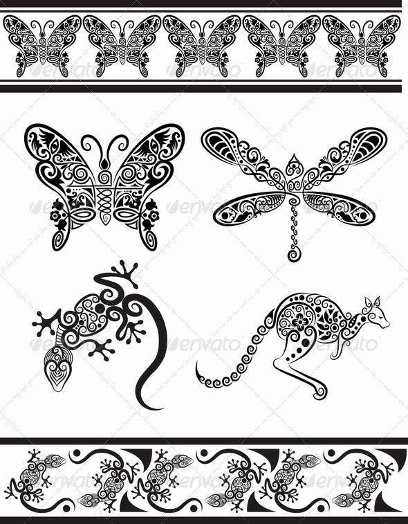 Animal ornaments (series 1) - Decorative Symbols Decorative