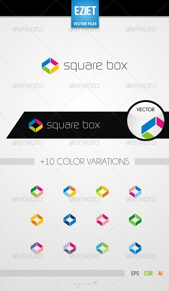 Square Box Logo - Objects Logo Templates