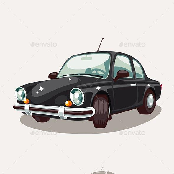 Old Black Car Retro Vintage
