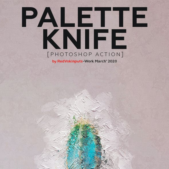 Palette Knife Photoshop Action