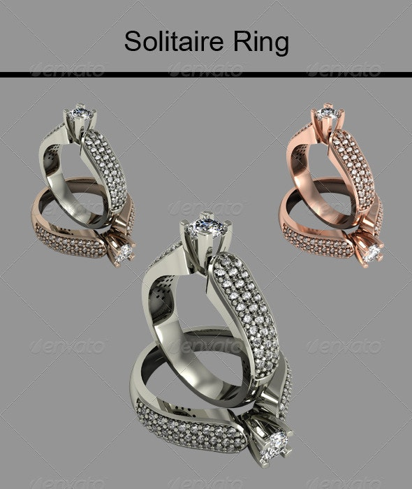 Solitaire Ring - Objects 3D Renders