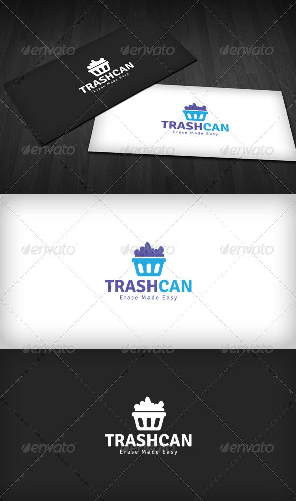 Trash Can Logo - Objects Logo Templates