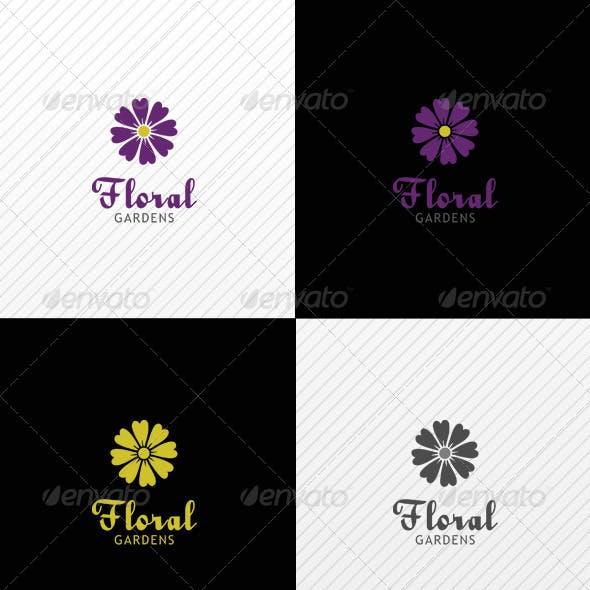 Floral Garden Logo Template