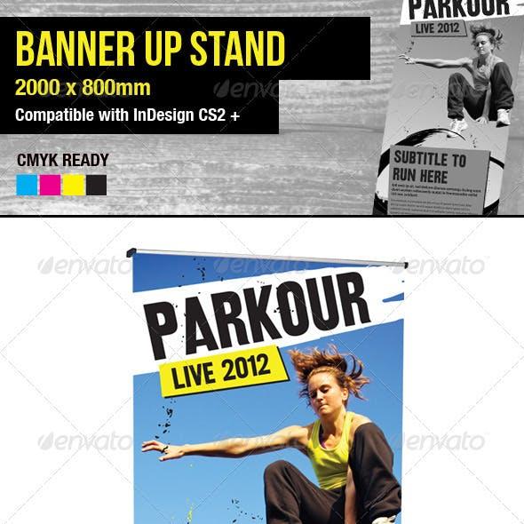 Parkour / Freerunning Banner Stand Pop-up