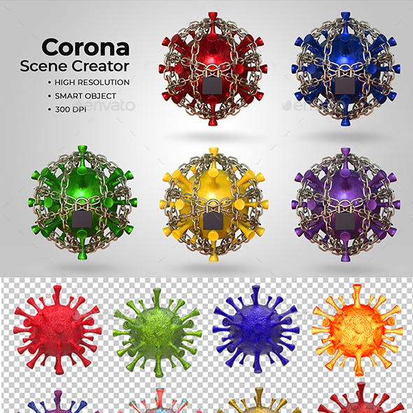 Corona Virus Scene Creator