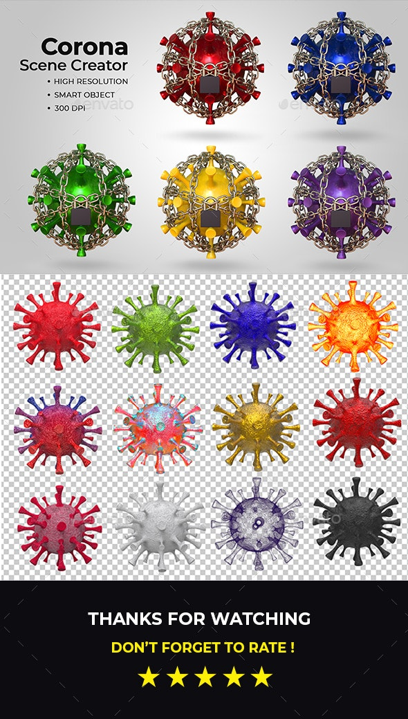 Corona Virus Scene Creator - Scenes Illustrations