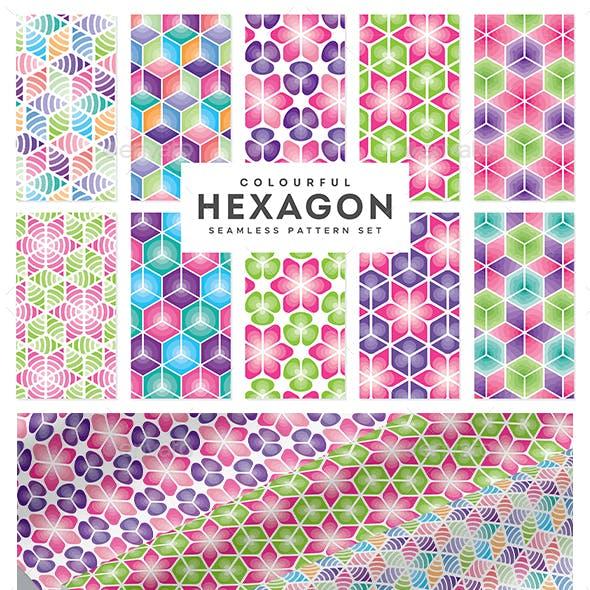 Seamless Colourful Hexagon Pattern