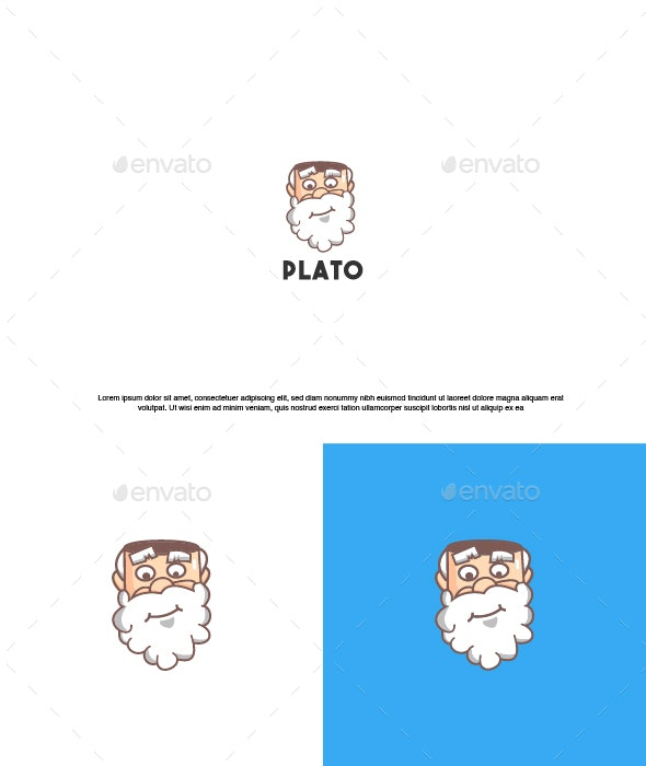 Grandfather Logo Tamplete - Humans Logo Templates
